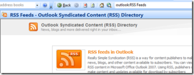 Outlook RSS Reader Screenshot
