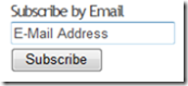 Subscribe By Email WordPress Screenshot