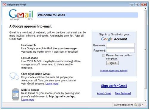 Gmail WebRunner