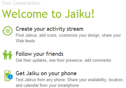 Jaiku Features